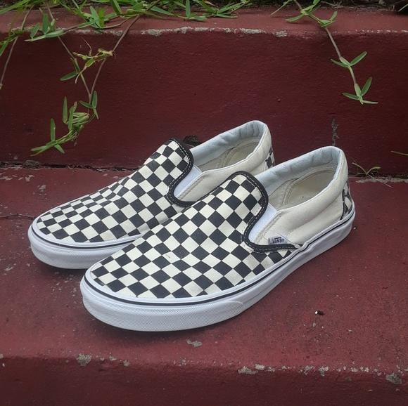 90825e1f84 Vans Classic Checkerboard Cream Slip On. M 5b183458c61777e0a91cc0eb